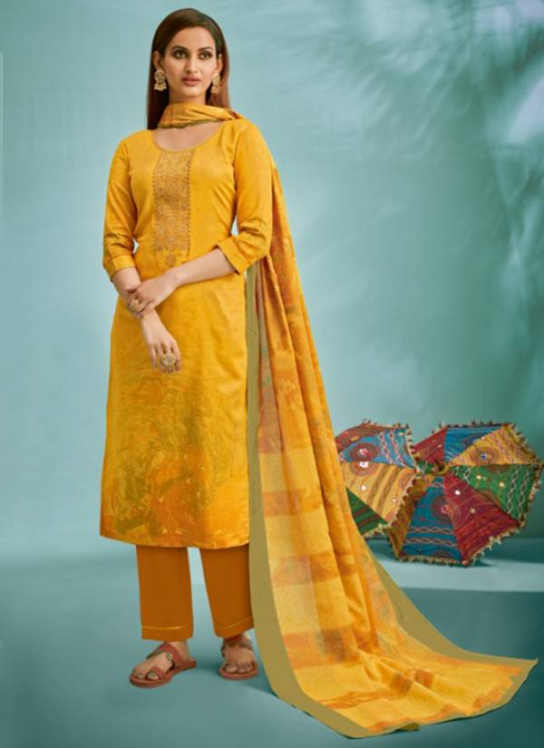Suryajyoti Shaded Vol 3 Pure Satin Cotton Printed With Fine Work Readymade Pant Suits Collection