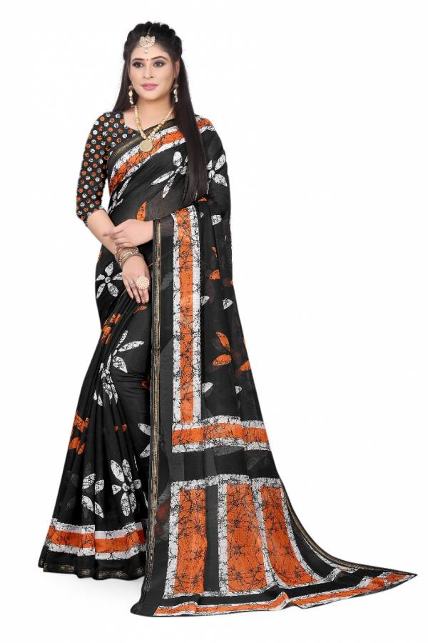 Manokamna Trendz Jaipuri Series 1101-112 Soft Cotton Silk With designer Digital Printed Regular Wear Sarees Collection