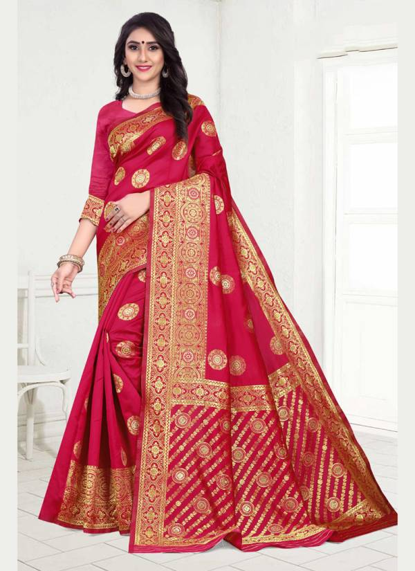 Kodas Lilly Series 8311A-8311D Handloom Jacquard New Designer Fancy With Stunning Look & Festival Wear Sarees Collection