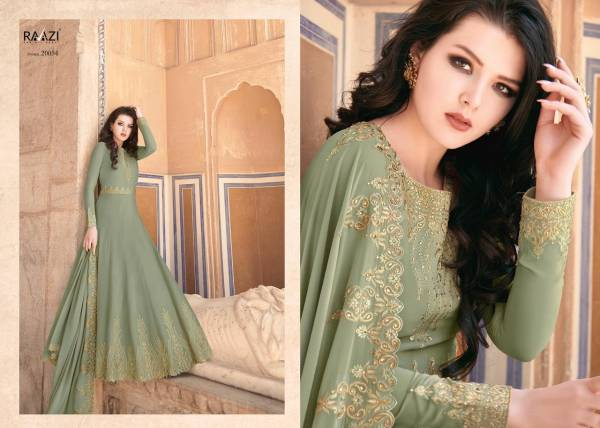 Rama Fashions Raazi Almas Georgette With Embroidery Work Fancy Anarkali Suit Collection