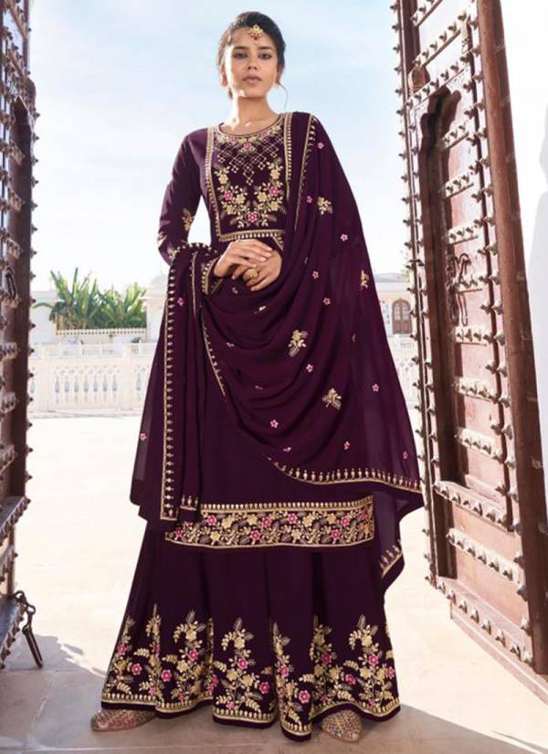 Sajawat Creation Rajani Vol 2 Series 291-295 Heavy Faux Georgette Festival Special Readymade Palazzo Suits Collection