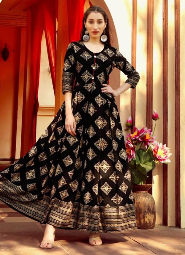 Aradhna Fashion Riwaaz Vol-1 Series 1001-1011 Heavy Rayon Manual Work Party Wear Floor Length Kurti Collections