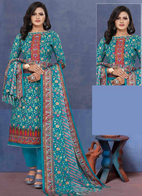 Bipson Lajoo Series 1231A-1231D Pure Pashmina Printed New Fancy Winter Special Straight Cut Suits Collection