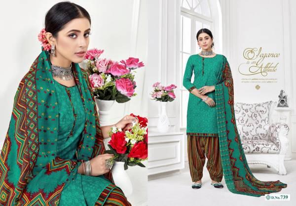 Shree GuruKrupa Dresses Denim Cotton Print fancy Patiyala Suit Collection