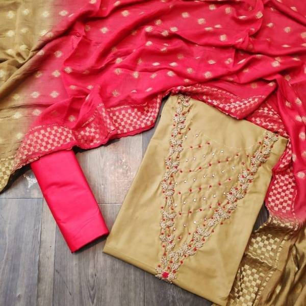 Maa Swaroop Suit Sahajadi Pc Cotton With Fancy Hand Work Dress Material Collection