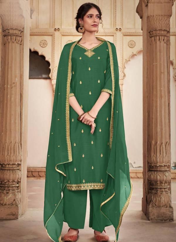 Bela Fashion Meraki Series 1593-1601 Cotton Silk New Designer Trdaitional Wear Palazzo Suits Collection