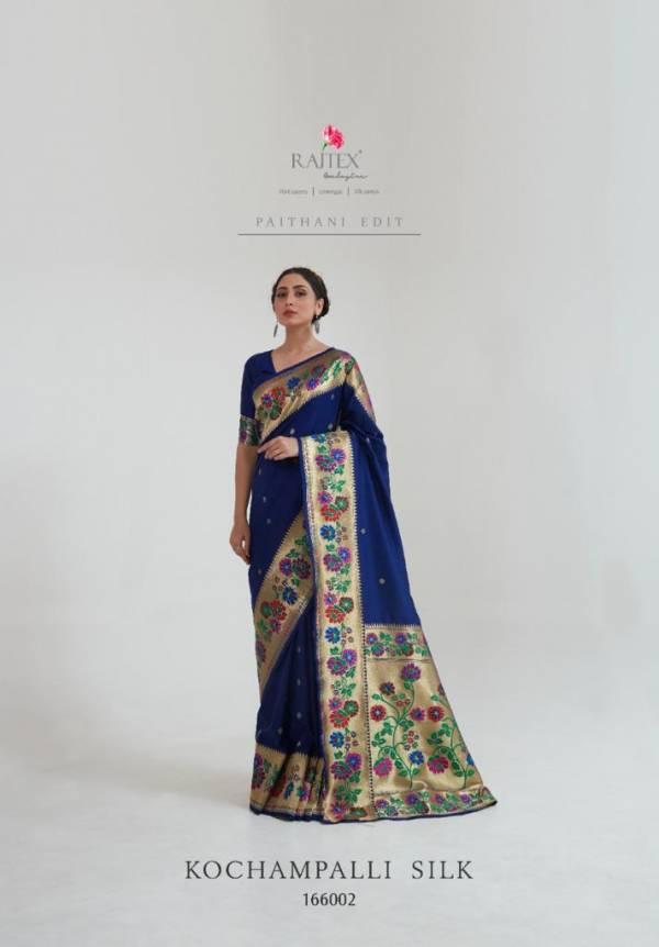 Rajtex Kochampalli Silk Paithani Silk Fancy Designer Digital Printed Work With Rich Pallu Reception Wear Designer Sarees Collection