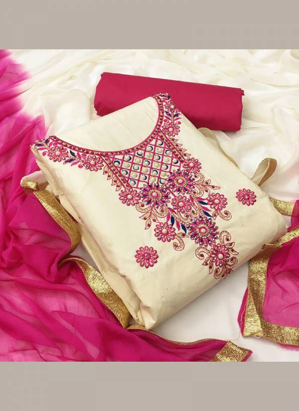 Ruhi Fashion Series DMU1-DMU4  PC Cotton New Designer Embroidery Work Casual Wear & Fancy Work Salwar Suits Collection