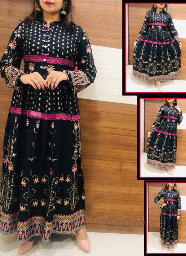 Banwery Premium Collection Cotton Digital Printed Gown Collection