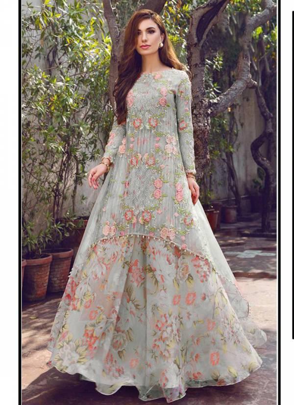 Hoor Tex Aynoor Colour Gold Vol 6 Series 18005A-18005D Heavy Georgette Wedding Wear New Designer Pakistani Concept Suits Collection