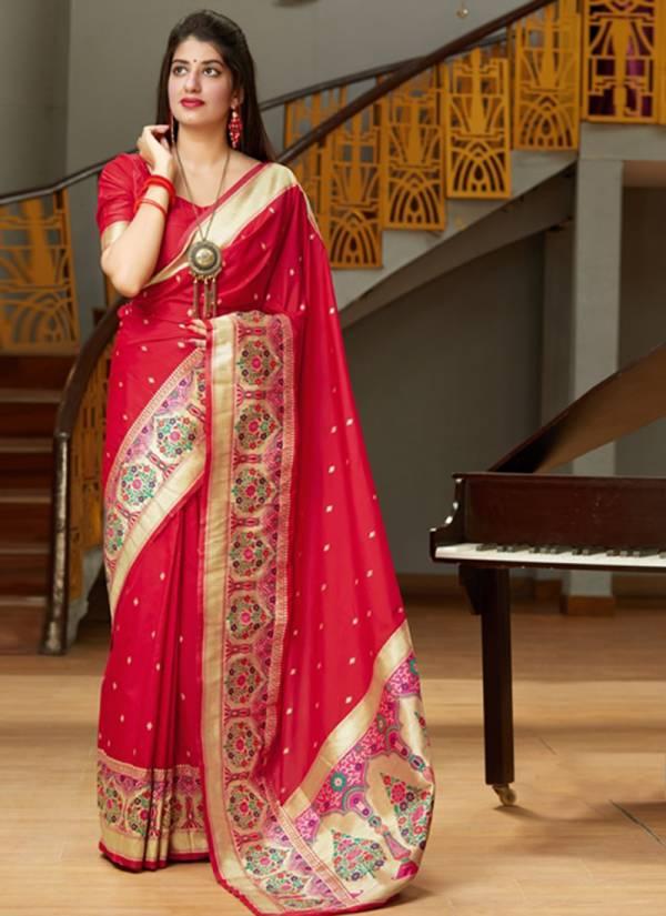 Manjubaa Maanika Silk Beautiful Look Embroidery Work Wedding Wear Saree Collections 4201-4208