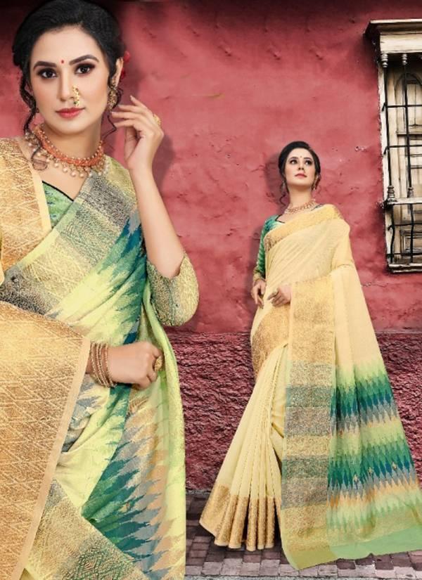 Asisa Ria Series 6801-6804 Cotton With Zari Border Designer Pallu Traditional Look Fancy Sarees Collection