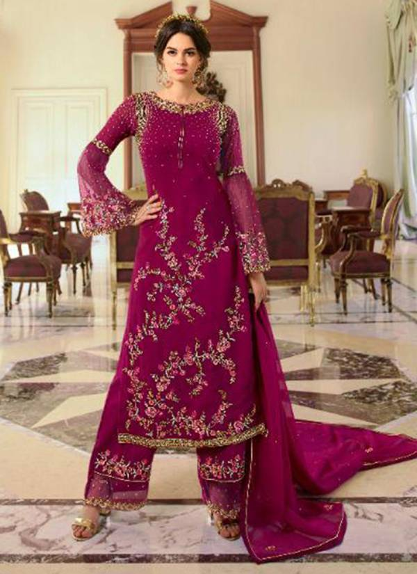 Fiona Navya Colour Plus Series 22832-22833B Heavy Georgette Stylish Look Work Festival Wear Suits Collection