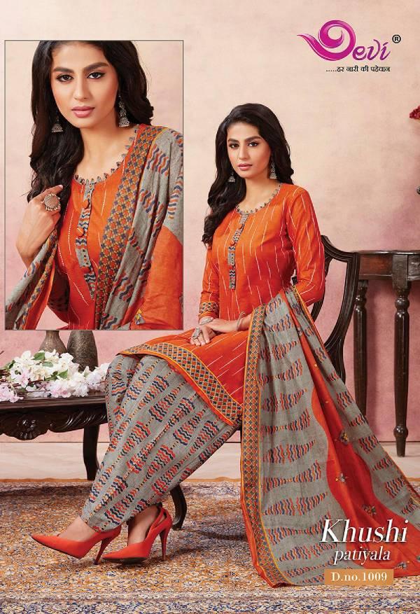 Devi Fashion Khushi Patiyala Vol 1 Series 1001-1016 Pure Cotton New Designer Printed Stylish Look Daily Wear Salwar Suits Collection