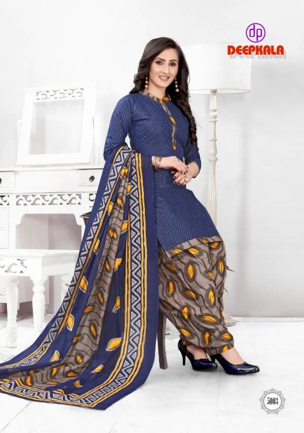 Deepkala Prints Royal Patiyala Vol-5 Pure Cotton Casual Wear Readymade Patiyala Suits Collection