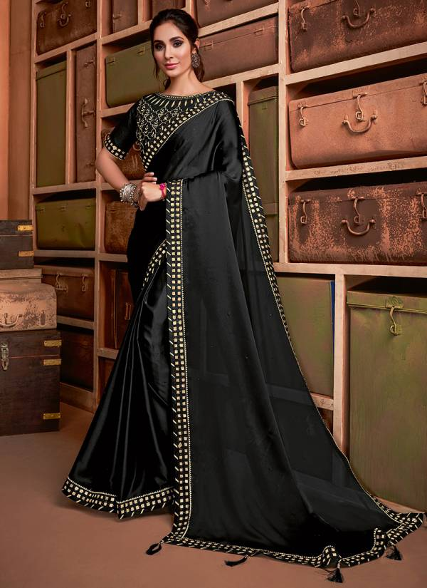 Mahotsav Norita Taarika Series 11700-11705 Latest New Jacquard Silk & Silk Georgette Resham, Zari And Sequins Embroidery Work Party Wear Sarees Collection