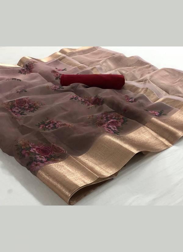 Rajtex Fabrics Organza Silk Series 01SILK-15SILK Soft Organza Silk Latest Designer Beautiful Printed Sarees Collection