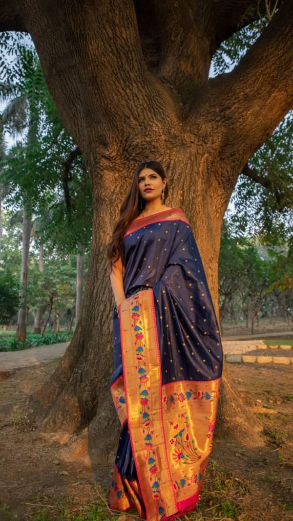 Rajtex Aradhana Silk Fancy Soft Silk With Weaving Work Border Trending Look  Designer Sarees Collection