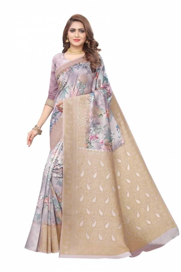 Shiv Saree Enterprise Titanic Designer Soft Silk With Digital Printed Jacquard Sarees Collection