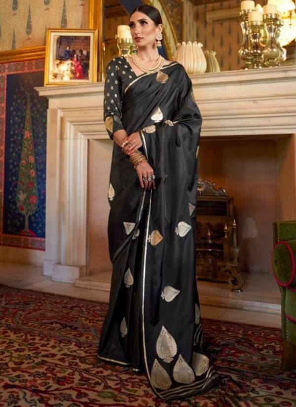 Rajtex Kaarika Silk Series 131001-131007 Pure Satin Weaving Silk New Designer Party Wear Sarees Collection