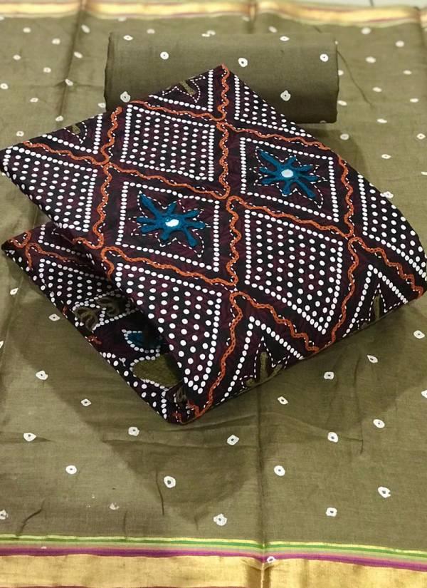 Shree Bherav Suits Pure Cotton Batik print With Embroidery Work Designer Suits Dress Materiel collection