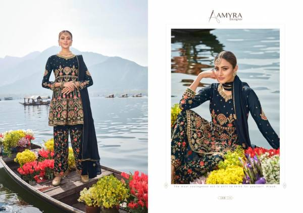 Amyra Designer Firdous Heavy Georgette With Heavy Exclusive Embroidery With Fancy Diamond Wedding wear Salwar Suit Collection