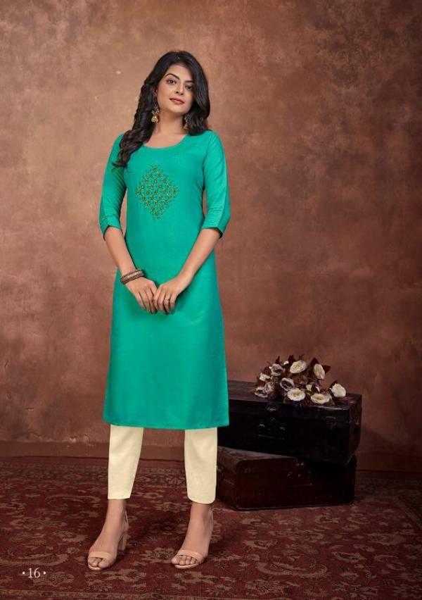 Lilly Raji Vol 2 Series 11-16 Two Tone Rayon With Fancy Hand Khatli Work Regular Wear Kurtis Collection