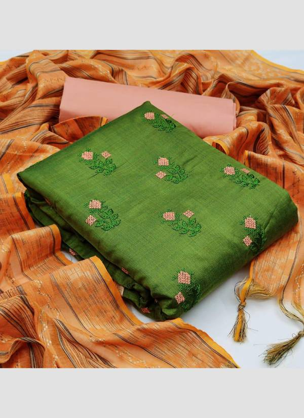 Shree Bhairav Suits Banarasi Cotton Fancy Printed Work Daily Wear Dress Material Suits Collection