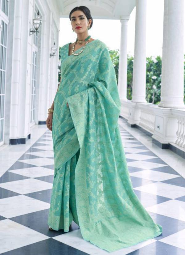 Rajtex Kivaami Lucknowi Series 146001-146006 Chikankari Weaving Festival Wear Sarees Collection