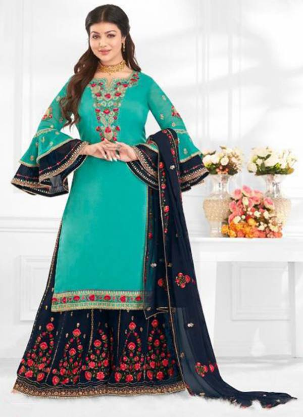 Lavina Vol 106 Series 10601-10606 Satin Georgette With Stylish Look Embroidery Work Party Wear Suits Collection