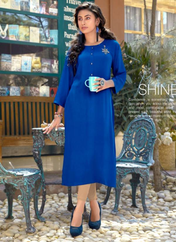 Sweety Fashion Peach Vol 2 Series 2001-2009 Rayon With Hand Work Straight Cut Daily Wear Kurtis Collection