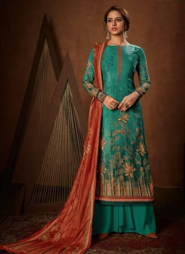 Levisha Muskan Vol 2 Series 6813-6818 Pure Velvet Digital Printed With Diamond Latest Designer Palazzo Suits Collection