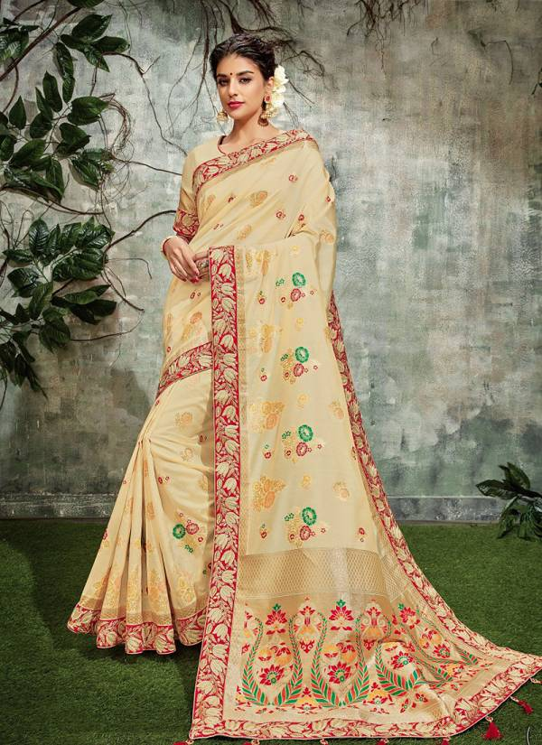 Mahotsav Nayonika Rangsey Weaved Silk Latest Embroidery Work Wedding Wear Designer Sarees Collection