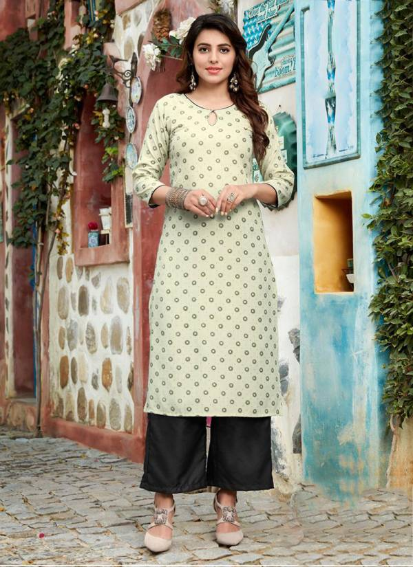 Ladies Flavour Biba Vol 1 Series 1001-1008 Office Wear Stylish Look Ruby print Kurti With Bottom Collection