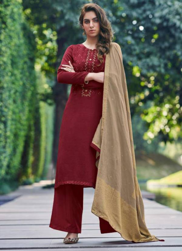 Deepsy Monalisa 3 Series 85001-85006 Mahya Silk With Self Butti Embroidery Work Trendy Look Suits Collection
