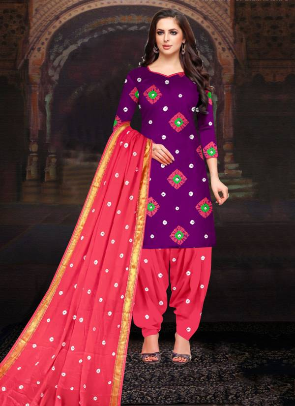 Amit Original Series 731-740 Heavy Cotton Bandhej Print Daily Wear Stylish Look Suits Collection