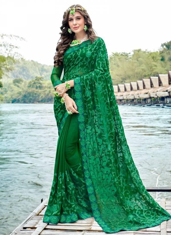 Kalista Spicy Series 67657-67664 Latest Designer Georgette Festival Wear Sarees Collection