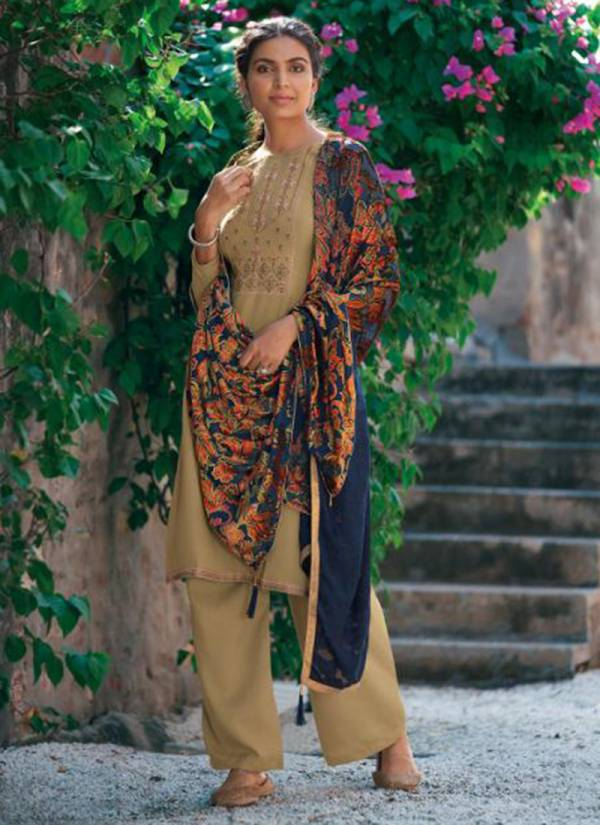 Deepsy Evelyn NX Series 83001-83006 Pure Silk Pashmina With Embroidery Work Stylish Look Suits Collection