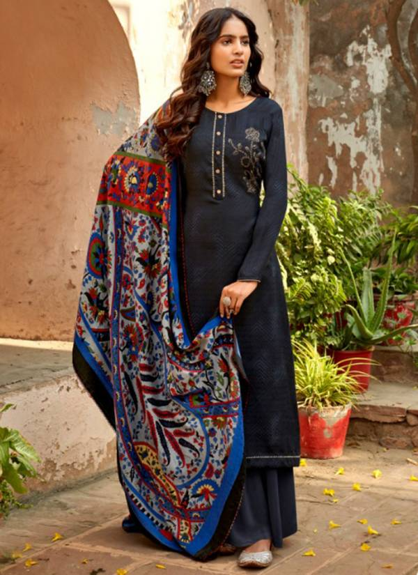 Sweety Fashion Frost Series FROST-1001-FROST-1008 Pashmina With Swarovski Work New Designer Regular Wear Palazzo Suits Collection