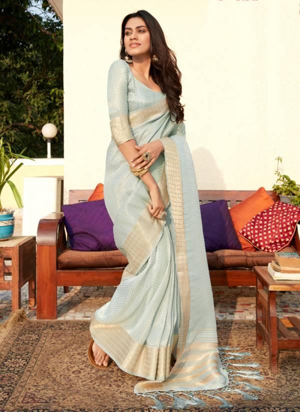 Rajtex Manya Silk Series 41001-41005 Soft Tissue Zari Work Graceful Designer Party Wear Sarees Collection