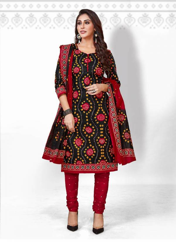 Deeptex Prints Classic Chunarias Vol 22 Series 2201-2216 Pure Cotton Bandhani Printed New Designer Daily Wear Churidar Suits Collection