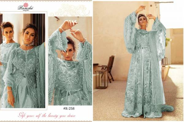 Ramsha Mushq Bridal Series R-257 - R-261 Net With Heavy Embroidery & Hand Work Latest Designer Pakistani Suits Collection