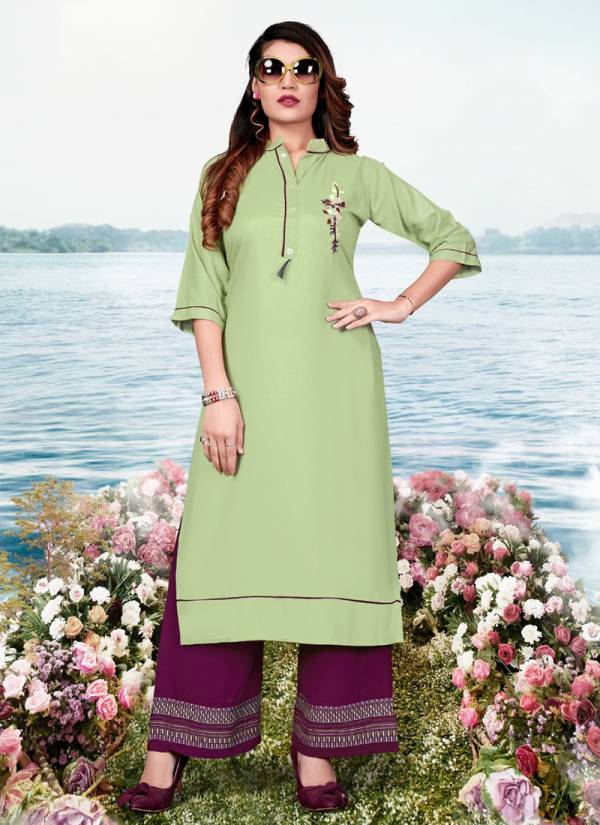 Fashion Valley Dresses Jalwa Vol 2 Series 133-138 Rayon With Embroidery Work Designer Kurtis With Palazzo Collection