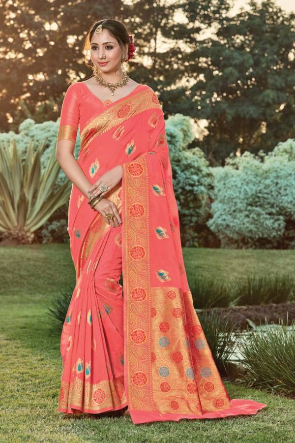 Sangam Burberry Series 1001-1006 Handloom Cotton New Designer Stunning Look Party Wear Sarees Collection