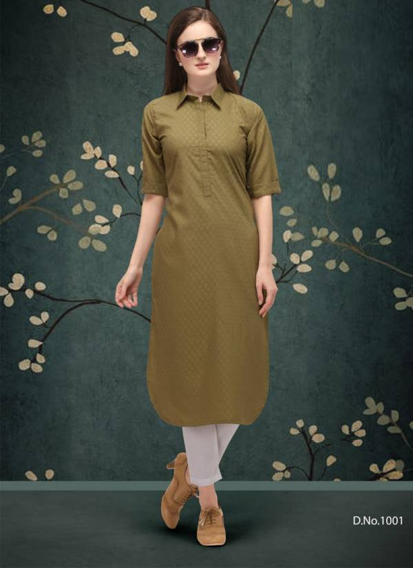 Wholesale Clothing Classic Vol 1 Doby Cotton Plain Casual Wear Kurti Collection