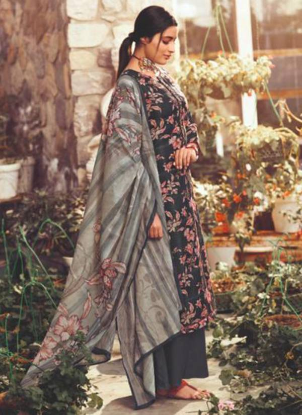 Glossy Gunjan Series 774-781 Trendy Look Pure Pashmina Digital Print With Fancy Neck embroidery Work Winter Suits Collection