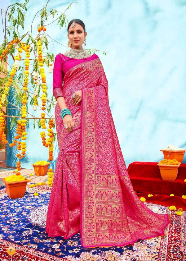 Shangrila Silk Vatika Vol 11 Silk Fancy Embroidery Work wedding Wear Sarees Collection