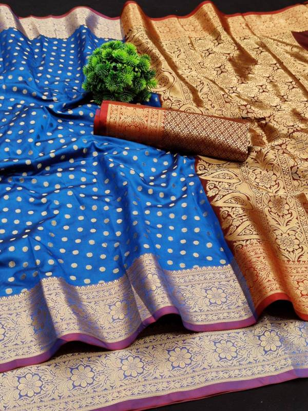 Varni Fabric Bindi Lichi Silk saree with beautiful weaving with Rich Pallu And Weaving  Border Designer Sarees Collection