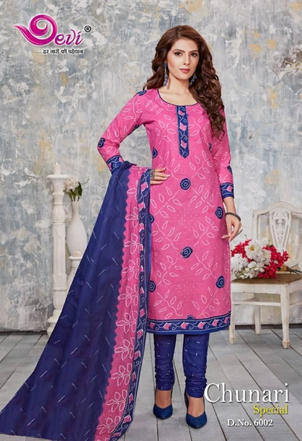 Devi Chunari Special Vol 6 Latest Designer Pure Cotton Bandhani Print Readymade Regular Wear Punjabi Patiyala Suits Collection