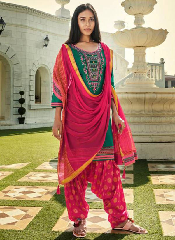 Kessi Shangaar By Patiyala House Vol 18 Series 5661-5668 Jam Silk With Embroidery Work New Fancy Patiyala Suits Collection